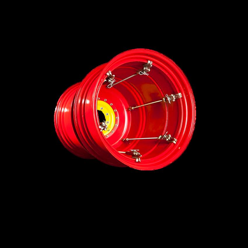 15X30 AP WHEELS dubultdisks 4/335 sarkans